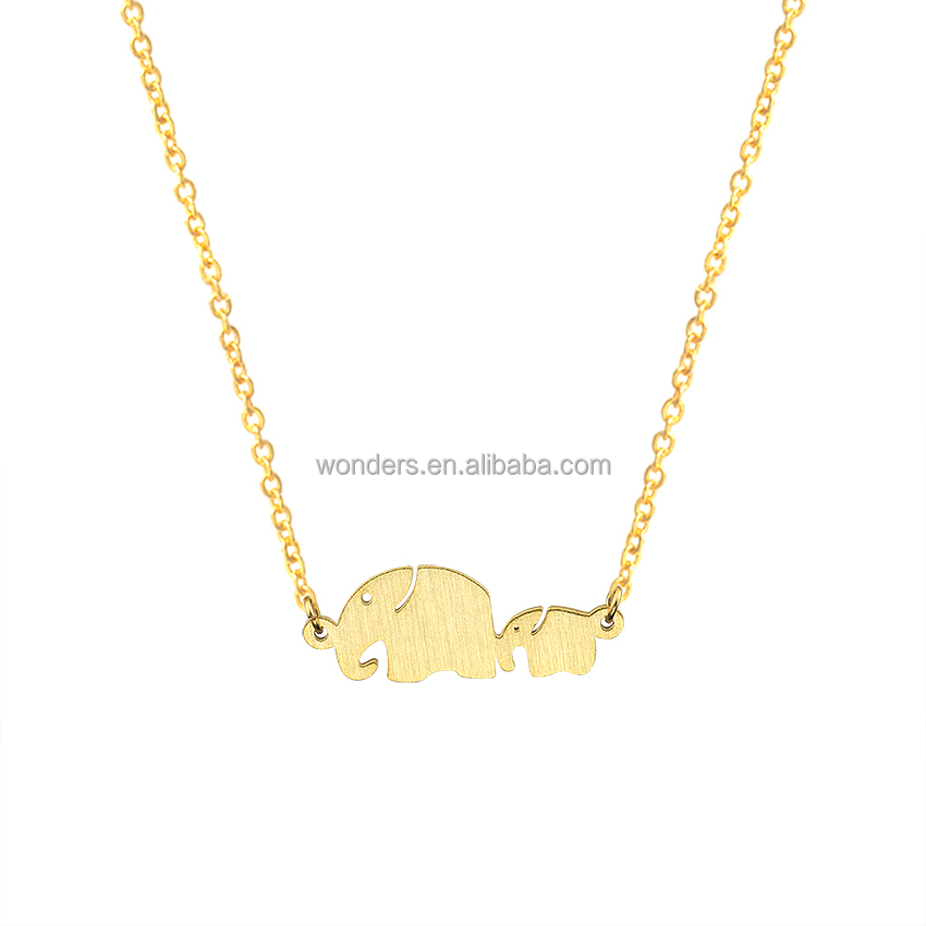 Elephant pendant short chain <strong>necklace</strong> , stainless steel nacklace