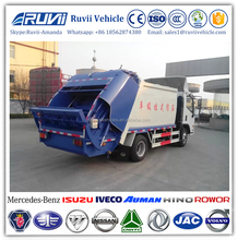 2017 4x2 compactor rubbish truck, diesel refuse compressed rubbish vehicle, oem LHD RWD 3ton garbage compactor truck for sale