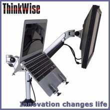 Think Wise S201 Clamp mounted gas loading double laptop / monitor stand