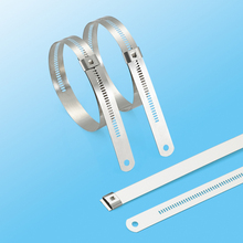 China Manufacturer Resistant to extreme cold l type pvc coated stainless cable tie of National Standard