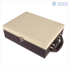 Simple elegant leather sparkling wine grape alcohol packing box