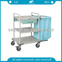 AG-SS017 Stainless Steel material clothes collecting trolley