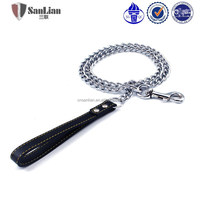 High quality metal dog collar and leash pet chain pet leads
