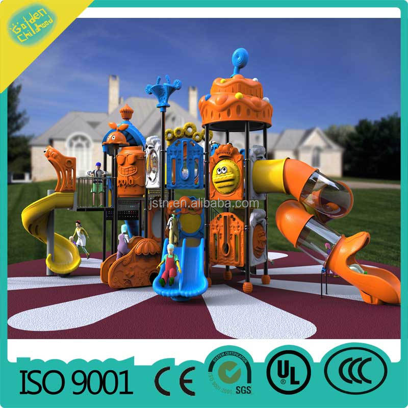 LLDPE plastic galvanization Kids outdoor playground set outdoor park play equipment kids rock climbing