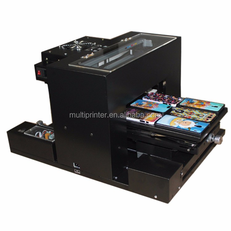 High quality six color mini A4 size flatbed printer , digital printer flatbed with heat equipment