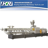 two-stage compounding extruder for pe,pp,ps+sbs;pp+nbr;eva+silicon rubber