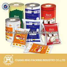 Laminate food grade plastic rice film/ aluminum foil laminated roll film for rice bag