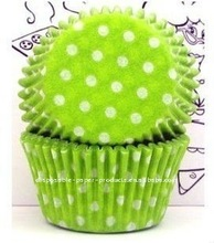 Wholesale Green Polka Dots Baking Cups