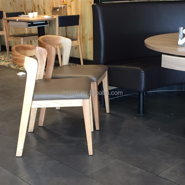 Hot Sell Restaurant Dining Room Wooden Dining <strong>Chair</strong> #AWF84 cheap price Guangzhou Assonhom