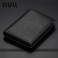 custom size black style hand crafted genuine leather wallets brand purse