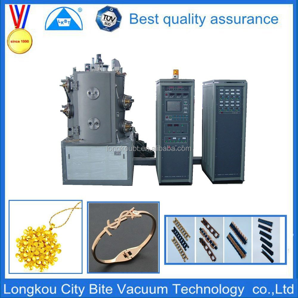 titanium nitride pvd plating machine for ceramic/small vacuum metalizing machine