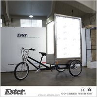 3 wheels bike advertisement/mobile advertising bicycle/advertising trike