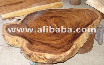 Acacia solid slab wood large free form coffee table buy for Free form wood coffee tables
