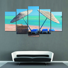 5 Pieces Unframed Wall Pictures Computer inkjet Landscape painting For Living room Home Decor
