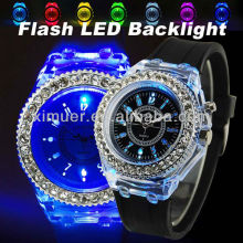 Fashion men's led light up watches