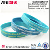Factory supply souvenir color printed rubber bracelet