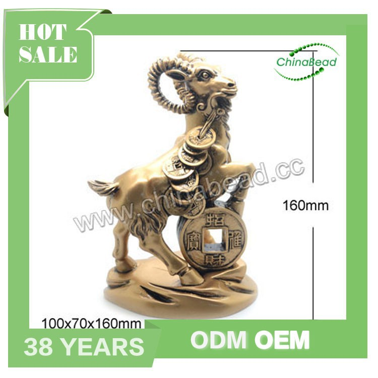 Wholesale Feng shui crafts, 2016 Chinese New Year carft goat statues for gift