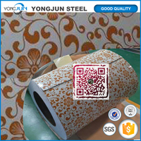 color coated aluminum coil price with brown figure traditional culture for wall interior decoration used aluminum coil PPALU