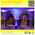 LED curtain pipe and drape easy to assemble!