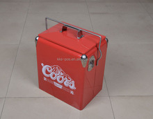 High Quality Metal Customized Cooler Box with Handle