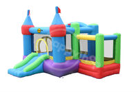Inflatable Kids Bouncer Pools with Slide -9112A Castle Bouncer with farmyard Ballpit