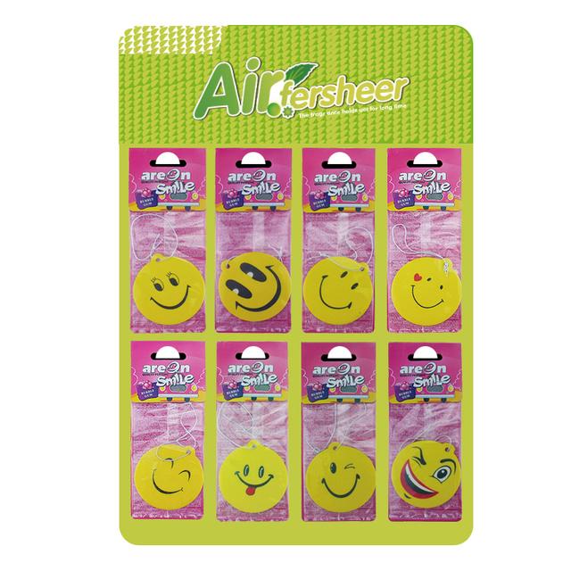 YIWU SHENGQIU made Smiling face paper air freshener,car air fresheners wholesale