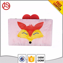 New Animal Face Design Shoulder Bags Party Purse Ladies Acrylic Box Clutch Women bag