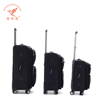 4 spinner wheels trolley suitcase nylon soft luggage travel trolley suitcase