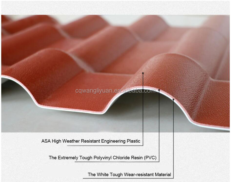 WLY Classical factory building material Spain synthetic Resin terracotta roof tiles