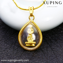 Xuping jewellery new gold chain design fake gold buddhist divinity pendant