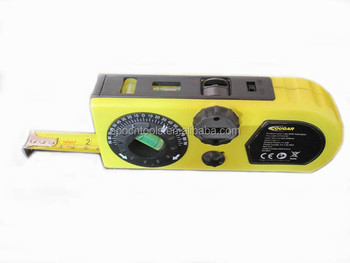 Laser Level with tape measure and calculator