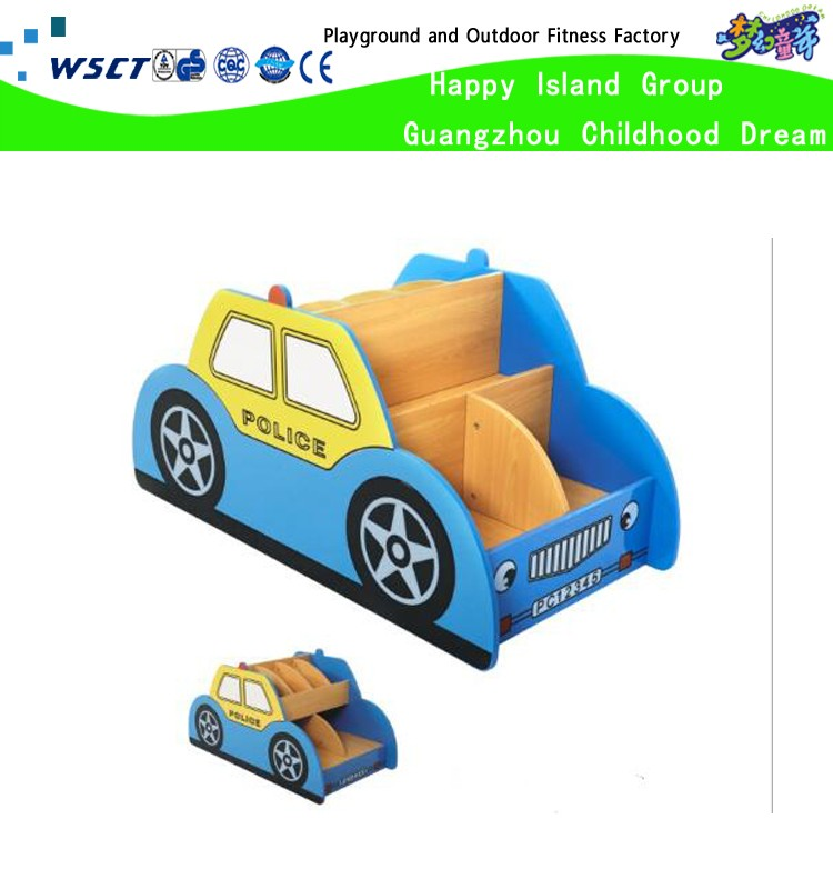 Kids car design nursery bookshelf library furniture for sale