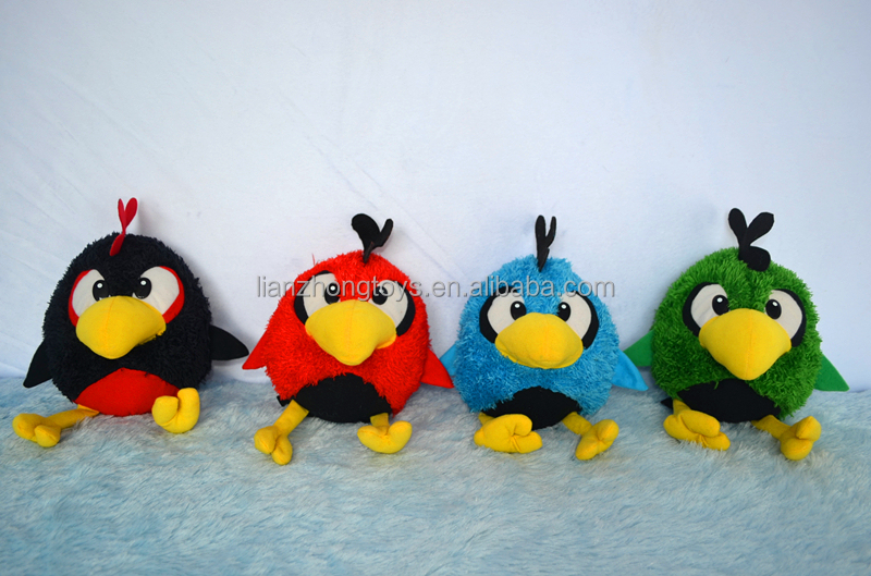 HOT SALE BIRD/Cute Plush Colorful bird Soft Stuffed Toy