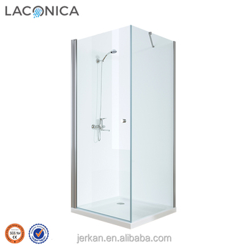 China Chrome Swift Pivot Shower Cabins With 6mm Glass