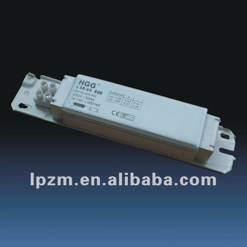 T8 magnetic ballast for fluorescent lamp 58w HGG-800-1