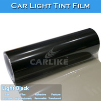 Light Black Car Light Vinyl Wrap Film/Car Headlight Color Change Sticker 0.3x10m