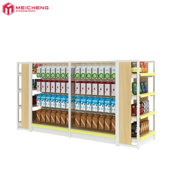 steel and wood supermarket display rack shelves gondola shelf for retail stores 5 tier adjustable wire storage shelving for sale