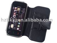 Sikai Black genuine leather Case For Nokia N97mini