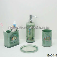 EA0046 ocean bathroom set with water transfer printing customised pictures