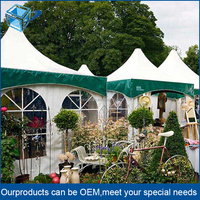 Luxury heavy duty canvas clear roof wedding tent for 500 people