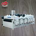 Fully automatic woodworking wire brush machine for wood pallet