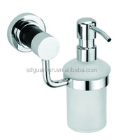 chrome brass wall mounted hotel metal soap shampoo dispenser