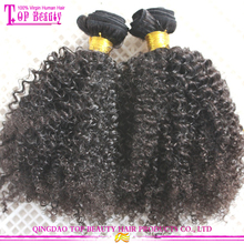 2016 Indian afro kinky braiding hair remy 4c afro kinky curly human hair weave afro hair