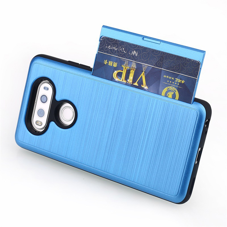 Unique design pc tpu combo card slots case for LG V20 , double layer mobile phone case for LG V20