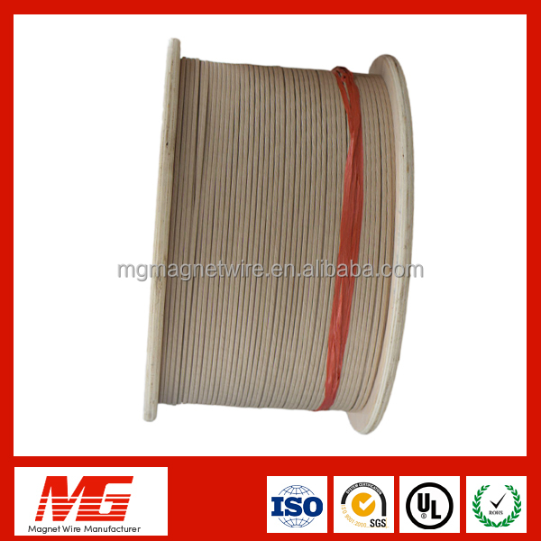 High Breakdown Voltage Rectangular Paper Wrapped Aluminum /Copper Wire