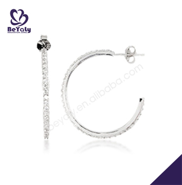 hot sale high quality sterling silver latest earring design
