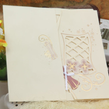 Cool and greative wood wedding invitations made in china