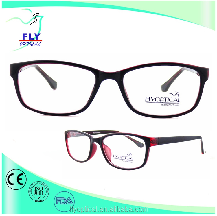 simple style eyewear for young people plastic CP optical&decorative frame glasses