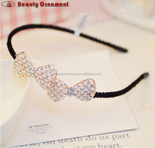 New spring and summer temperament double bow bow pearl hairpin wholesale handmade cloth hair bands