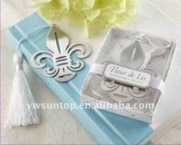 Personalized Wedding Souvenir Novel Fleur-de-Lis Metal Bookmark